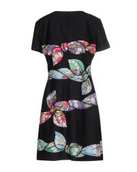 Boutique Moschino - Black Bow Print Dress - Lyst
