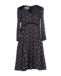 Prada | Gray Short Dress | Lyst