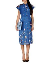 Anna Sui - Blue Knee-length Dress - Lyst