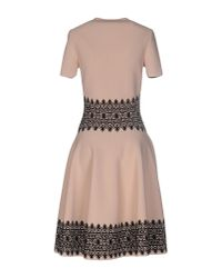 Alexander McQueen - Black Knee-length Dress - Lyst