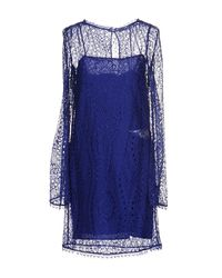 Emilio Pucci - Blue Short Dress - Lyst
