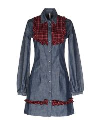 Met - Blue Short Dress - Lyst