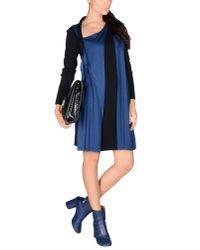 Jil Sander - Black Wool-crepe Dress - Lyst