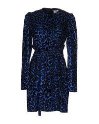 Victoria, Victoria Beckham - Blue Short Dress - Lyst