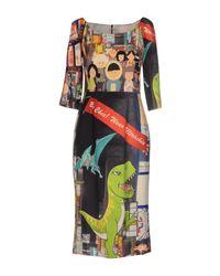Ultrachic - Green Knee-length Dress - Lyst