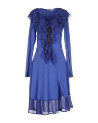 Sonia Fortuna | Blue Short Dress | Lyst