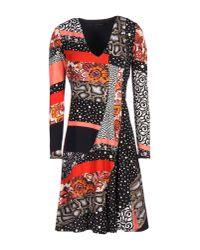 Roberto Cavalli | Black Short Dress | Lyst