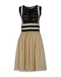 Vanessa Bruno - Natural Short Dress - Lyst