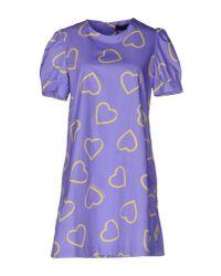 Love Moschino - Purple Short Dress - Lyst