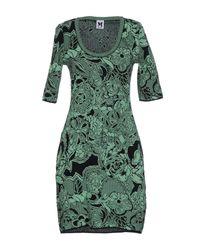 M Missoni | Green Short Dress | Lyst