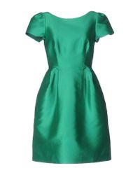 P.A.R.O.S.H. - Green Short Dress - Lyst
