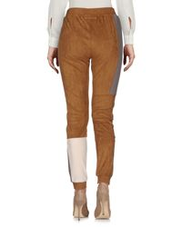 MM6 by Maison Martin Margiela - Brown Casual Pants - Lyst