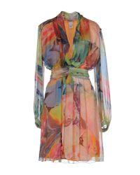 Philosophy di Alberta Ferretti | Pink Short Dress | Lyst