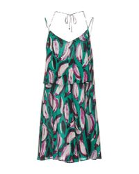 Trussardi - Green Short Dress - Lyst