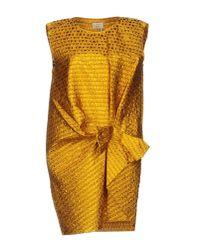 Lanvin - Multicolor Short Dress - Lyst