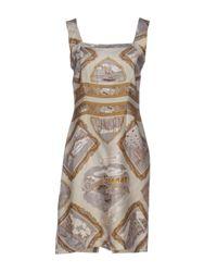 Dries Van Noten | Gray Short Dress | Lyst