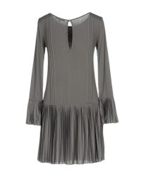 Patrizia Pepe - Gray Short Dress - Lyst