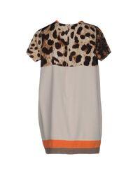 Amorimiei Paolo Petrone - Natural Short Dress - Lyst