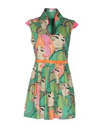 Philosophy di Alberta Ferretti | Green Face Print Dress | Lyst