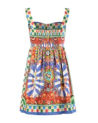 Dolce & Gabbana - Multicolor Short Dress - Lyst