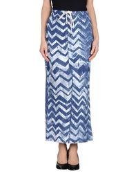 Simeon Farrar | Blue 3/4 Length Skirt | Lyst