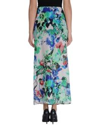 Blue Les Copains - Green Long Skirt - Lyst