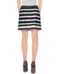 Pinko - White Mini Skirt - Lyst