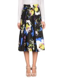 MILLY - Black Monica Floral Party Skirt - Lyst