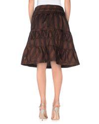 Gsus Sindustries - Brown Knee Length Skirt - Lyst