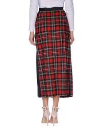 I'm Isola Marras - Red 3/4 Length Skirt - Lyst