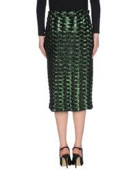 Essentiel Antwerp - Green 3/4 Length Skirt - Lyst