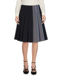 Prada | Black Knee Length Skirt | Lyst