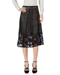 See By Chloé | Black 3/4 Length Skirt | Lyst