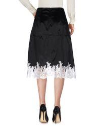Céline - Black 3/4 Length Skirt - Lyst