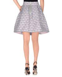 Markus Lupfer - Gray Knee Length Skirt - Lyst