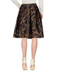 Paul Smith Black Label - Black Knee Length Skirt - Lyst