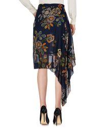 MSGM - Blue Knee Length Skirt - Lyst