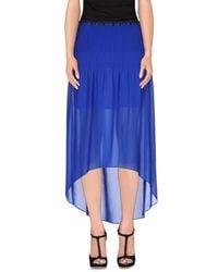 Pinko - Blue Long Skirt - Lyst