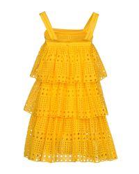 Plein Sud Yellow Short Dress