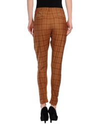 Pinko - Brown Casual Pants - Lyst