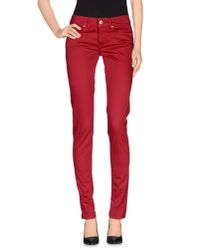 Dondup | Red Casual Pants | Lyst