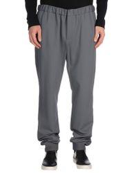 Emporio Armani | Gray Casual Pants for Men | Lyst