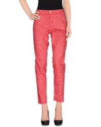 Notify | Red Casual Pants | Lyst