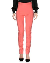 Boutique Moschino - Pink Casual Pants - Lyst