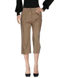 Novemb3r | Brown 3/4-length Trousers | Lyst