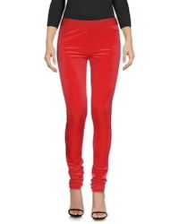 MM6 by Maison Martin Margiela | Red Leggings | Lyst