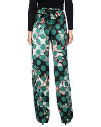 Roberto Cavalli - Green Printed Silk Pajama Pants - Lyst