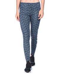 Adidas Originals - Blue Leggings - Lyst