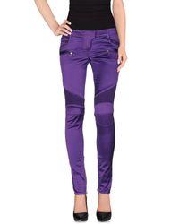 Balmain - Purple Casual Pants - Lyst
