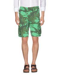 GAUDI | Green Bermuda for Men | Lyst